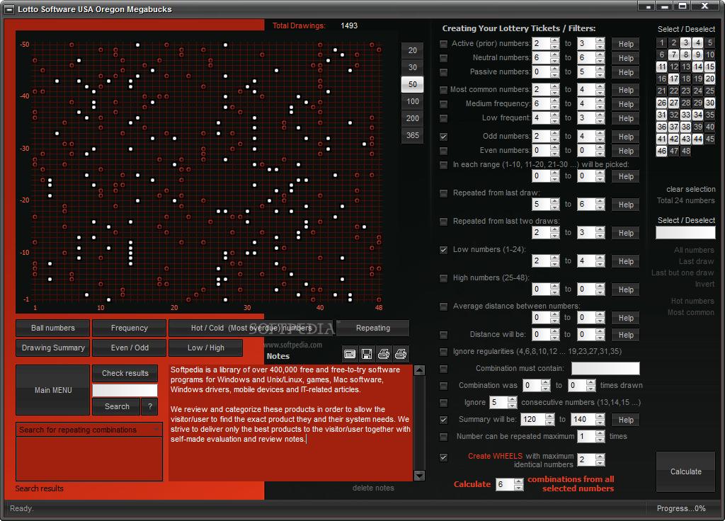 Download Lotto Software USA Oregon Megabucks 8 0 1