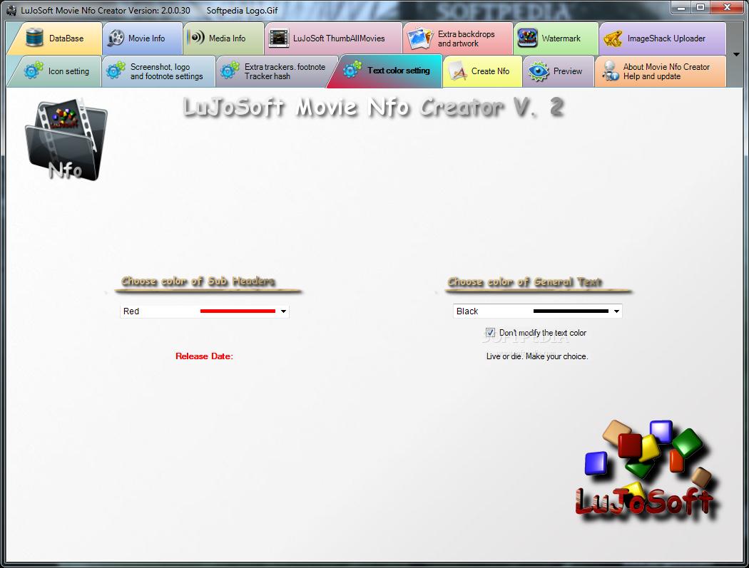 Download LuJoSoft Movie Nfo Creator 2 0 0 30