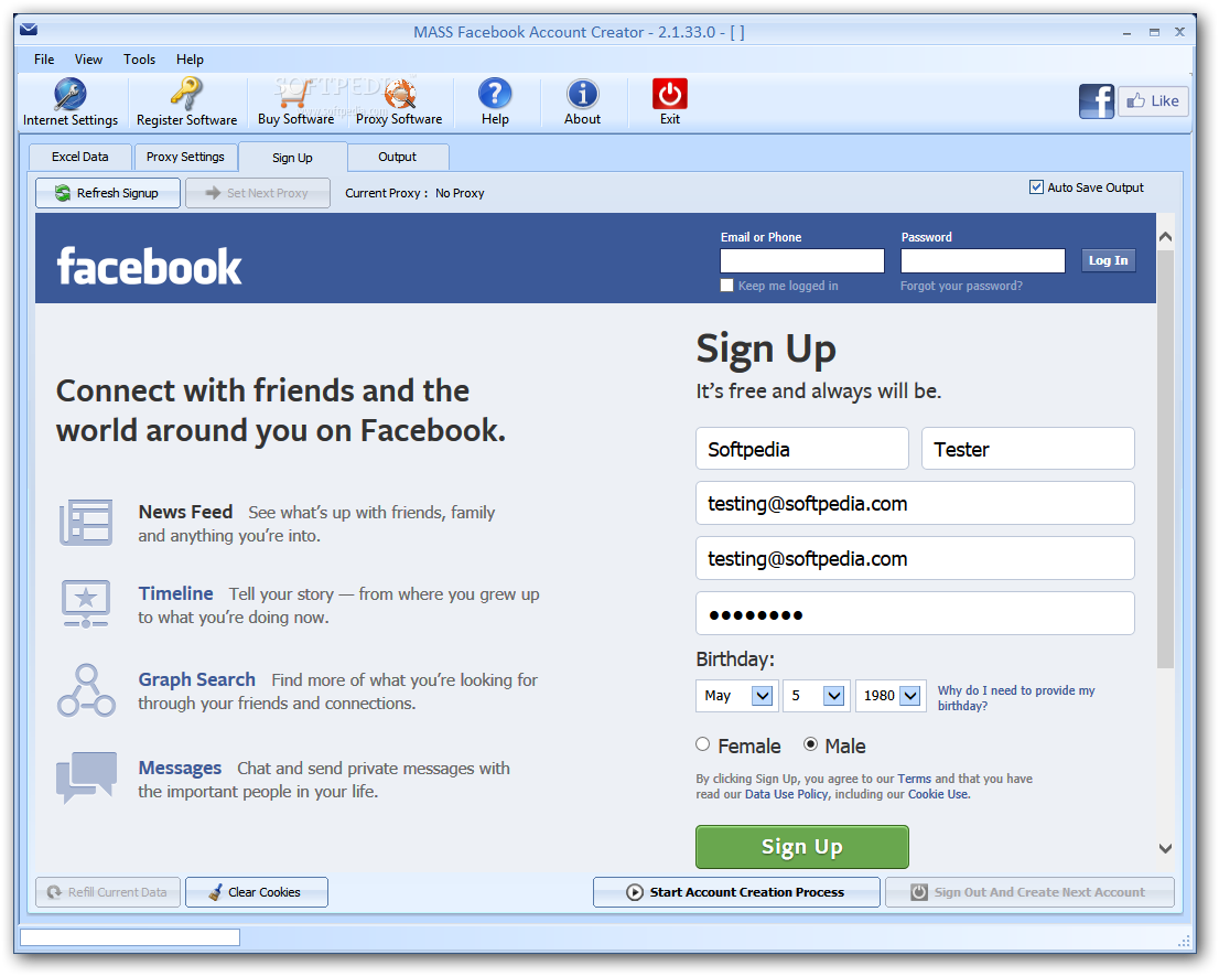 Download MASS Facebook Account Creator 2.1.73.0