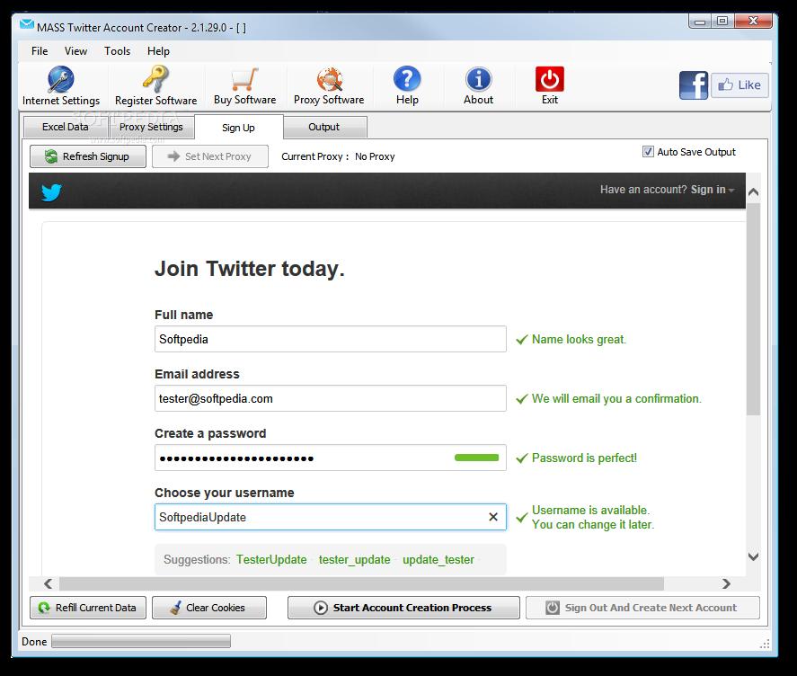 Download MASS Twitter Account Creator 2 1 37
