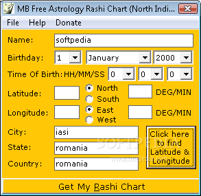 Download MB Free Astrology Rashi Chart (North Indian Style) 1 25