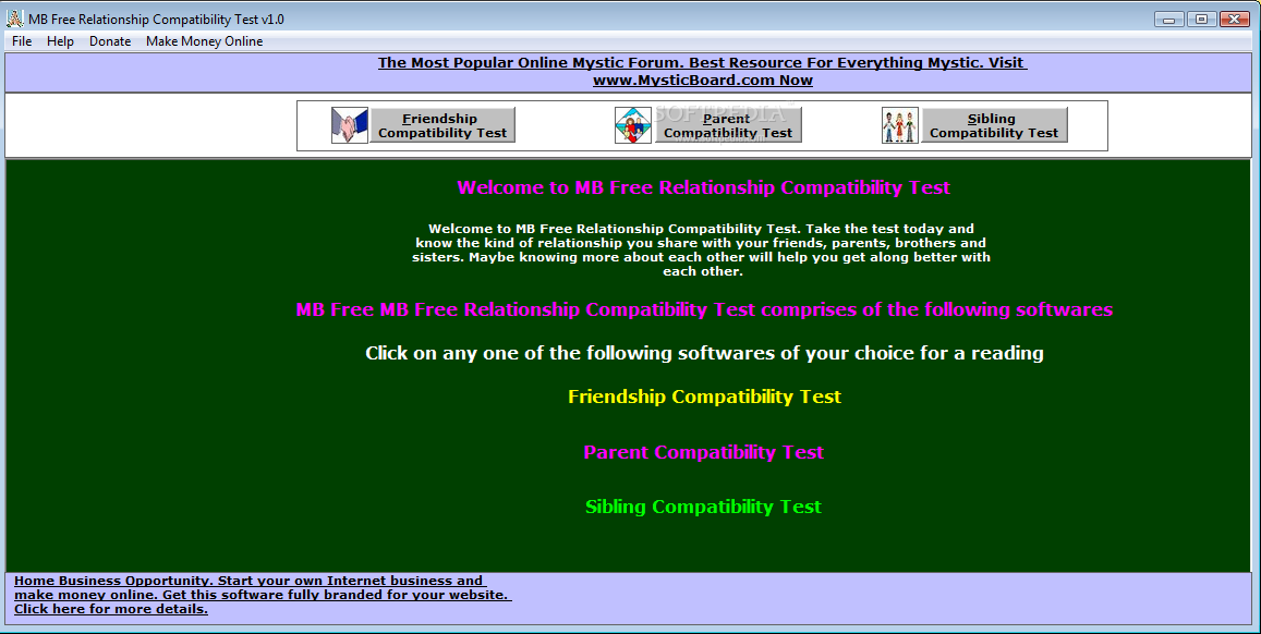 Dating compatibility test