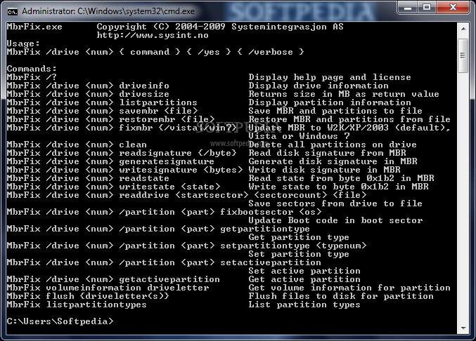 Download mbrfix windows 7.