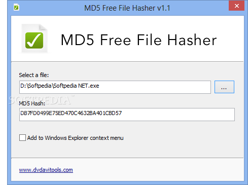 Download MD5 Free File Hasher 1 2 0 0
