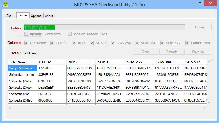 Download MD5 & SHA Checksum Utility Pro 2 1
