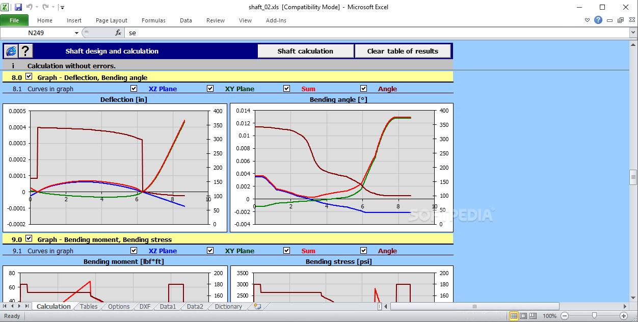 Download Mitcalc Shafts Calculation 124 Bending Moment Diagram Calculator Screenshot 8