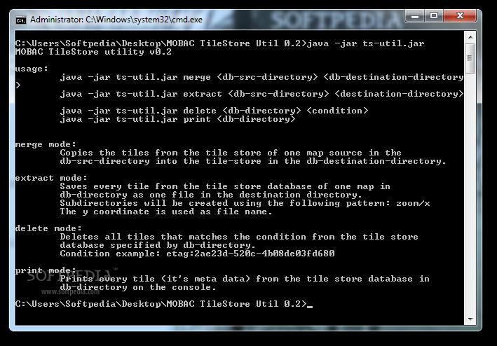 Download MOBAC TileStore utility 0 2