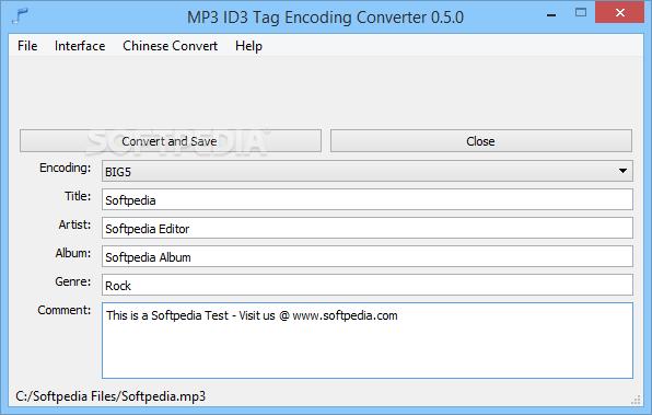 Download MP3 ID3 Tag Encoding Converter 0 5 0