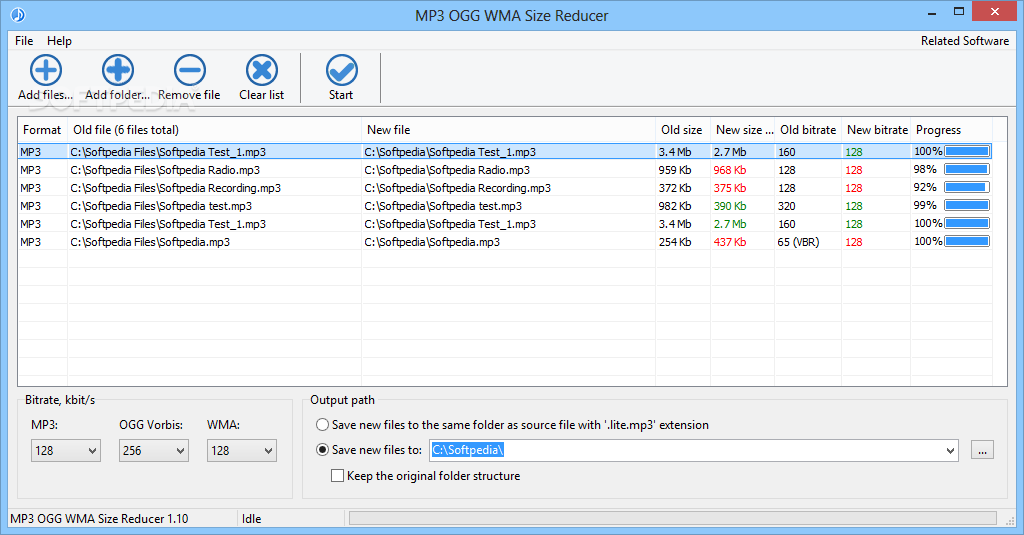 Download MP3 OGG WMA Size Reducer 1 11