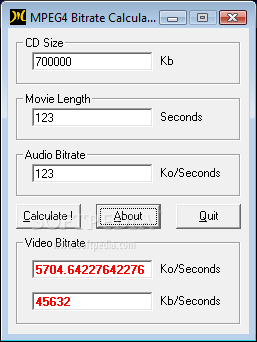 mpeg 4 bitrate Gallery