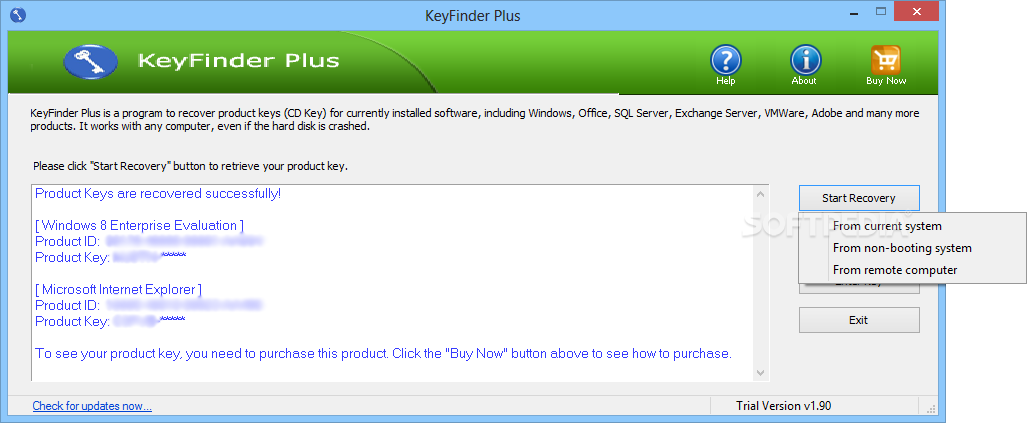 windows 8 product key finder free