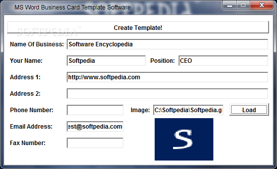 Business card template word accmission Image collections