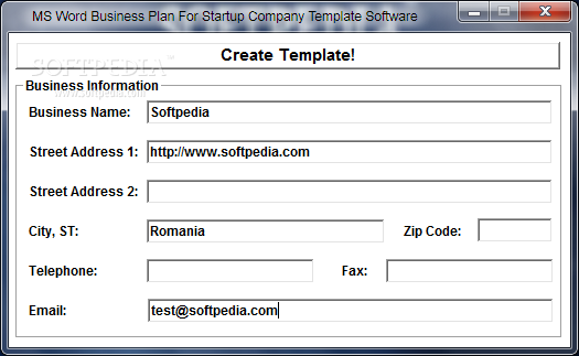 Download Ms Word Business Plan For Startup Company Template Software 7 0