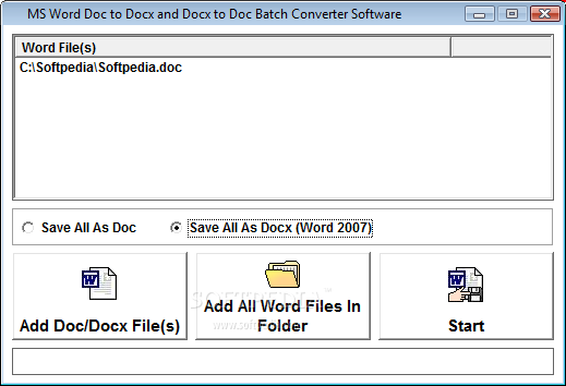 Download MS Word Doc To Docx and Docx To Doc Batch Converter Software 7 0