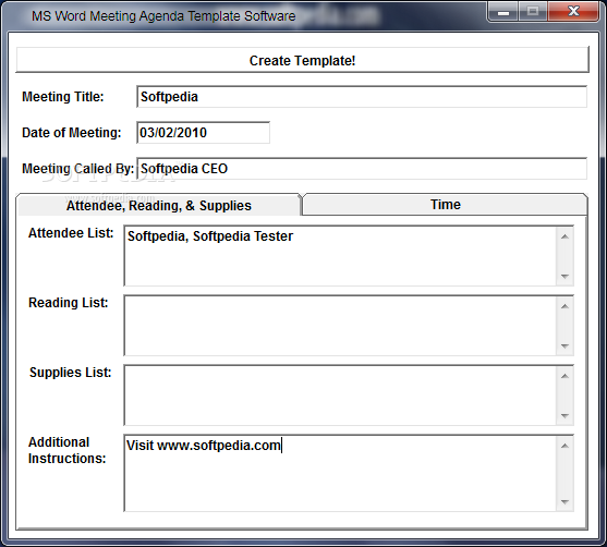 One Meeting Templates For Word Best Agenda Template