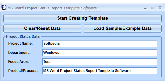 download ms word project status report template software 70