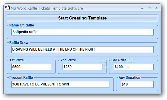Download Ms Word Raffle Tickets Template Software 70