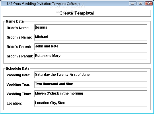 microsoft word wedding templates