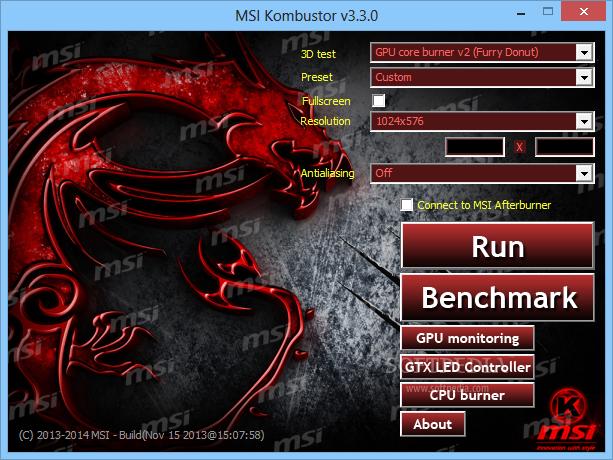 Download MSI Kombustor 2 6 0 32-bit / 4 1 0 0 64-bit
