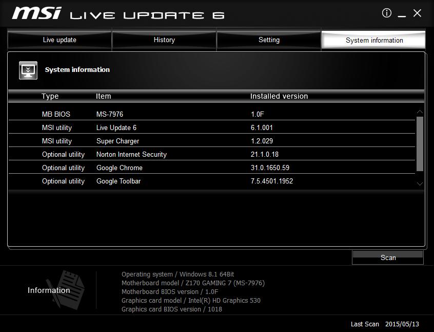Download MSI Live Update 6 2 0 57