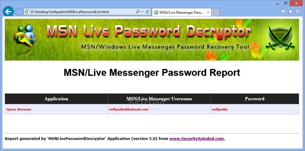password msn txt