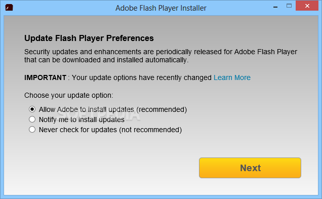 Adobe flash player 11.4 keeps trying to install