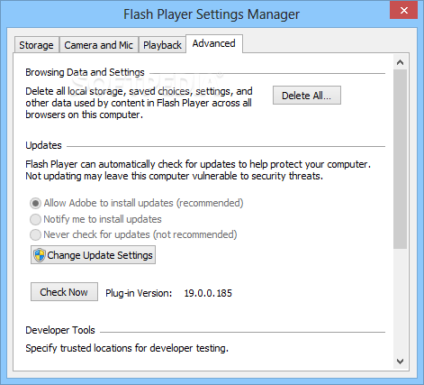 adobe flash player offline installer for windows 2008 r2