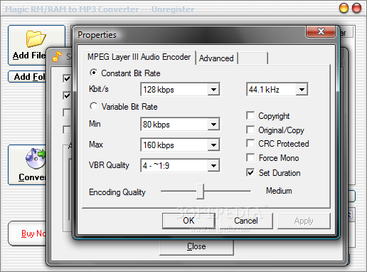 How to convert a RAM to a MP3 file
