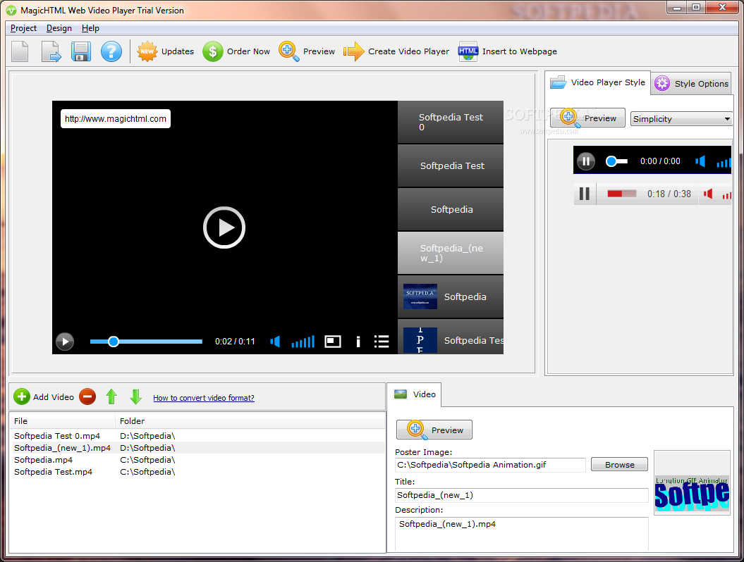 download free software magichtml web video player