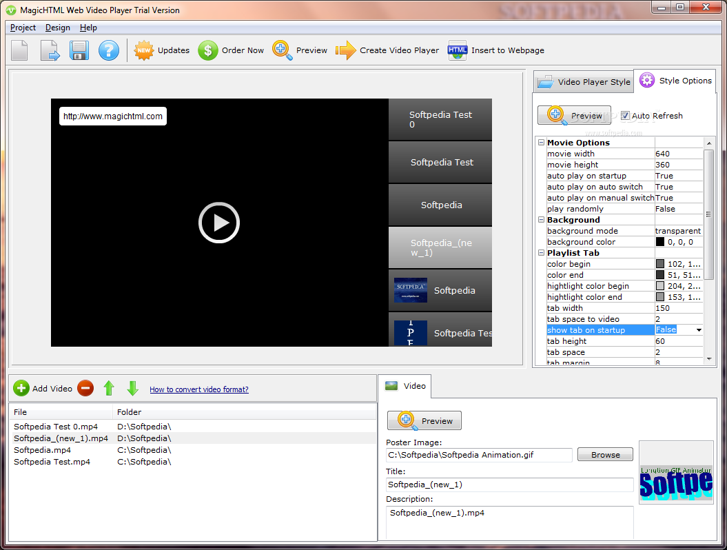 Download Magichtml Web Video Player 14