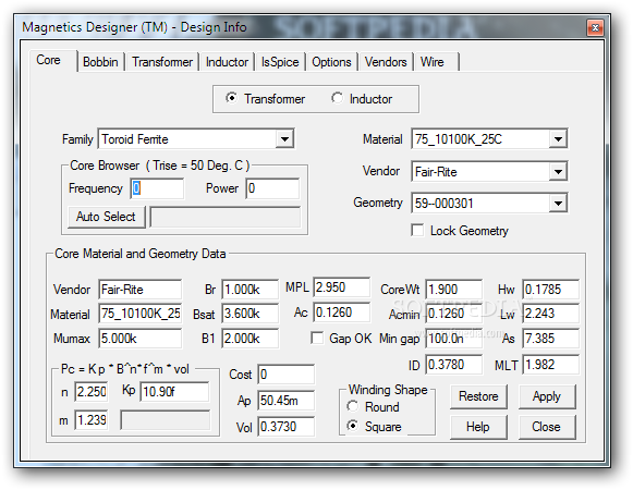 Download Magnetics Designer 8 11 Build 3839