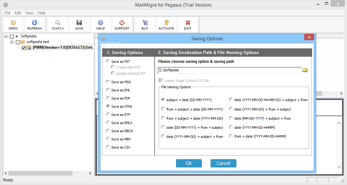 Download MailMigra for Pegasus 3 0