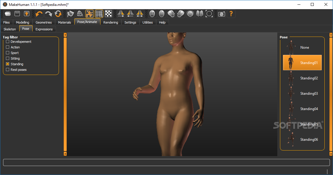 MakeHuman modelling