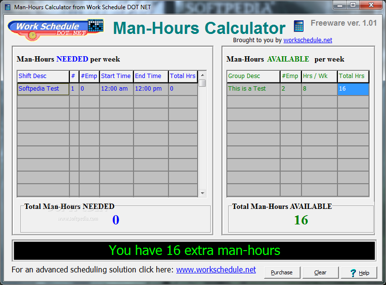 employee hours calculator