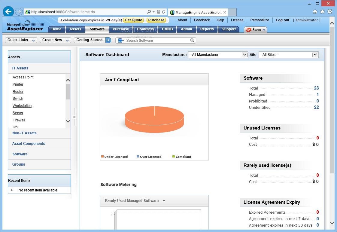 Download ManageEngine Asset Explorer 6 0 0