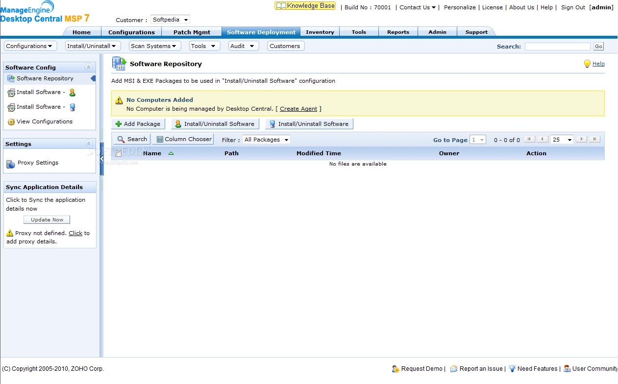 Download ManageEngine Desktop Central MSP 7 0 Build 70001 Beta