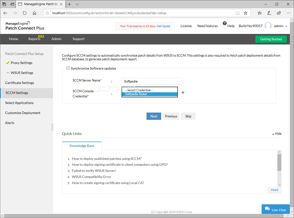 Download ManageEngine Patch Connect Plus 9 0 0 Build 90064
