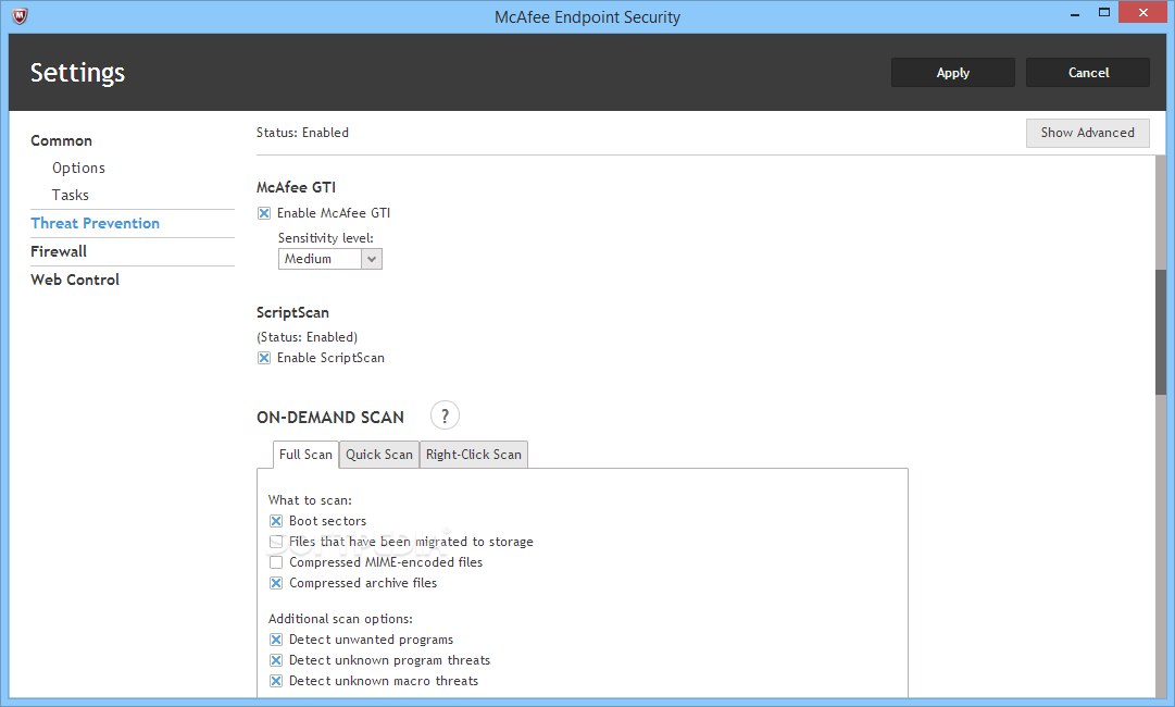 Download Mcafee Endpoint Security 10 6 0 357 10 7 0 0 Beta