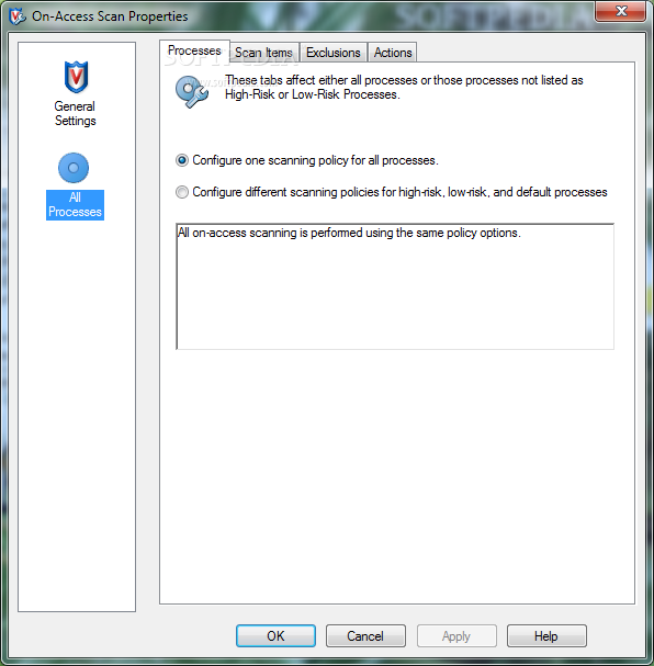Screenshot 16 of McAfee VirusScan Enterprise.