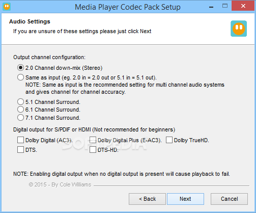 Download free codec pack for media player classic software backupsan - Media player classic k lite codec pack ...