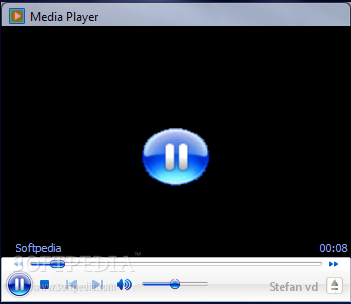 Media player this is the main window of the media player gadget