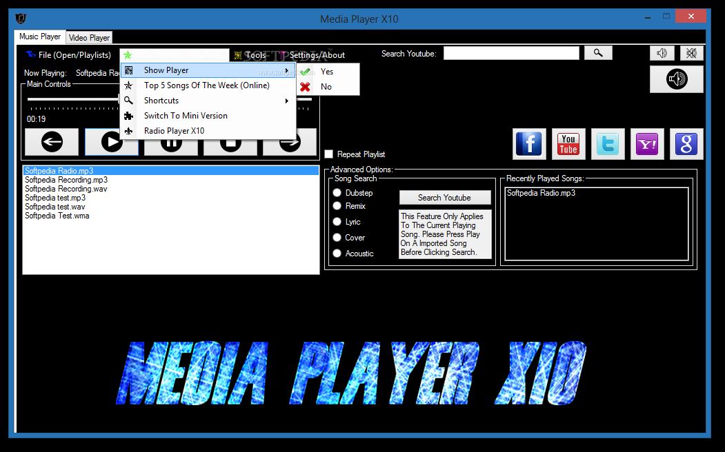 Download Media Player X10 6 1