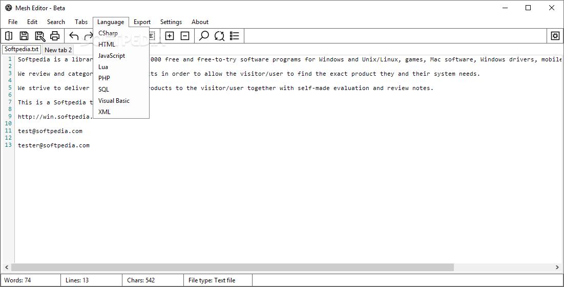 klassikko useita värejä käytettävissä Download Mesh Editor 1.7