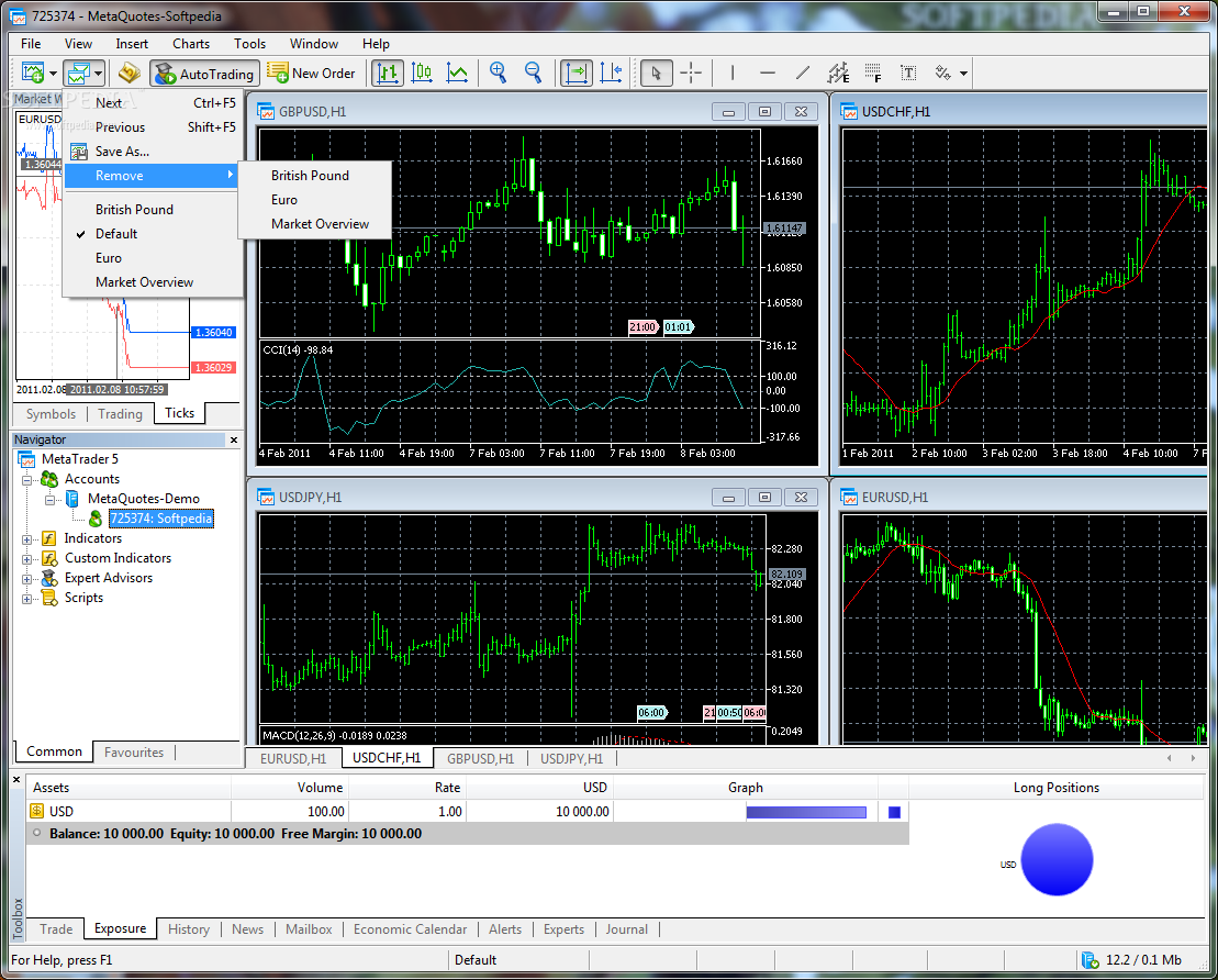Download MetaTrader 5.00 Build 1340 / 4.00 Build 988