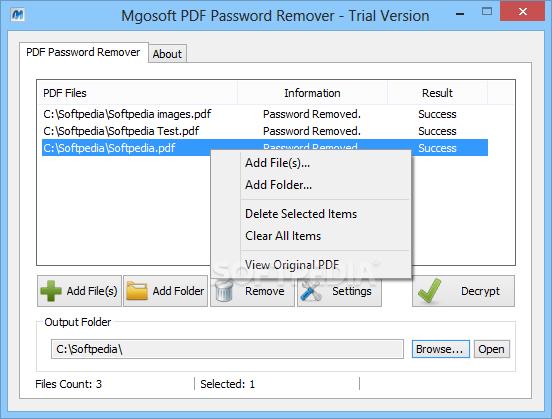 Pdf Security Password Remover
