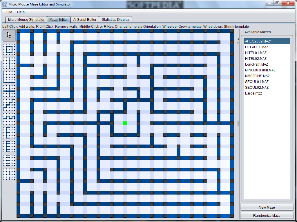 Download Micro Mouse Maze Editor and Simulator Revision 186