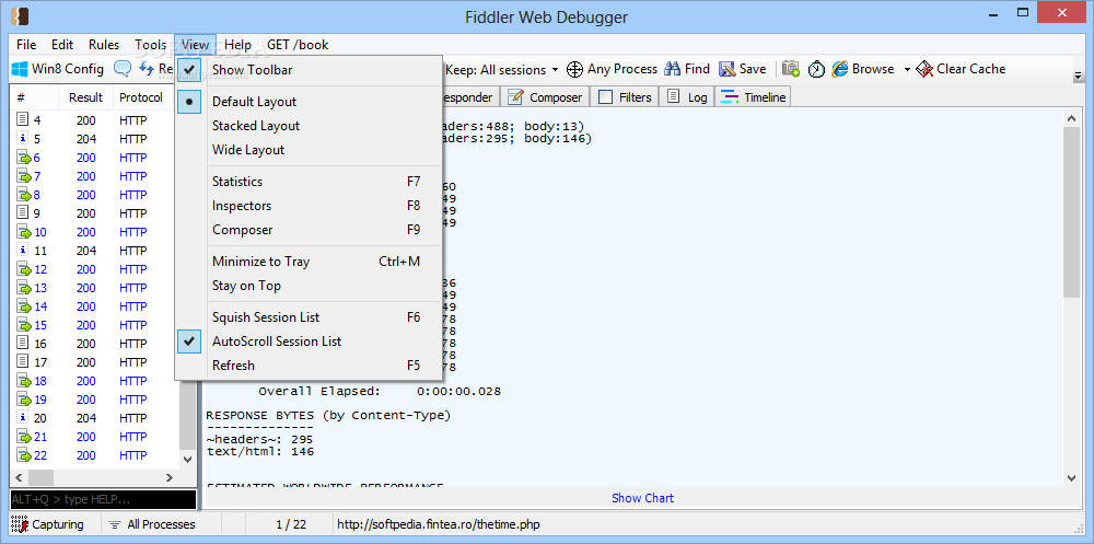 Fiddler Screenshot