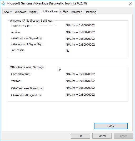 Download microsoft genuine advantage diagnostic tool 1. 9. 0027.