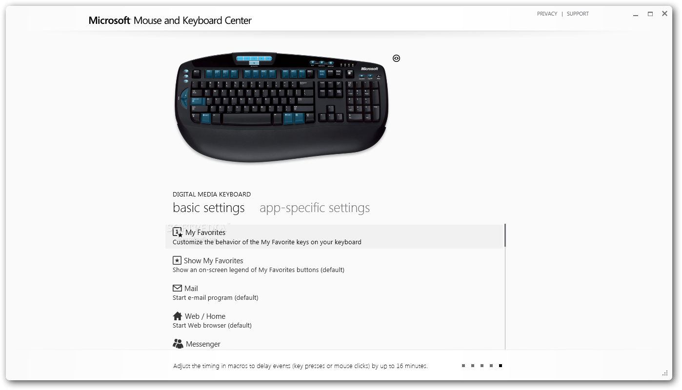 Download Microsoft Mouse and Keyboard Center 3 2 116