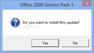 Microsoft office 2000 service pack 3 (sp3) free download.